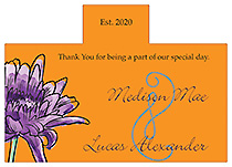 Personalized Floral Lovely Lavender Rectangle Wine Wedding Label 4.25x3