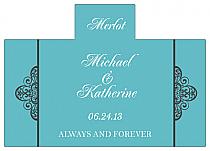 Personalized Glamorous Rectangle Wine Wedding Label 4.25x3