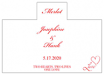 Personalized Love Swirly Rectangle Wine Wedding Label 4.25x3