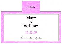 Personalized Magnolia Rectangle Wine Wedding Label 4.25x3