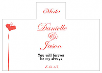 Personalized Orchid Rectangle Wine Wedding Label 4.25x3