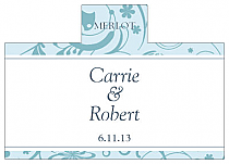 Personalized Provencale Rectangle Wine Wedding Label 4.25x3