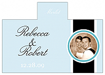 Personalized Simple Portrait Rectangle Wine Wedding Label 4.25x3