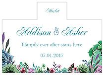 Personalized Spring Meadow Flowers Rectangle Wine Wedding Label 4.25x3