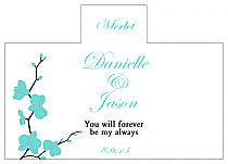 Personalized Summer Orchid Rectangle Wine Wedding Label 4.25x3