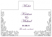 Personalized Vintage Rectangle Wine Wedding Label 4.25x3