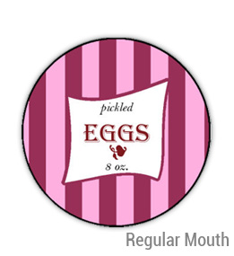 Pickled Eggs Regular Mouth Ball Jar Topper Insert