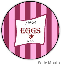 Pickled Eggs Wide Mouth Ball Jar Topper Insert