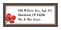 Polka Address Wedding Labels