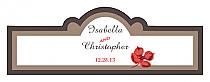 Polka Billbord Cigar Band Wedding Labels