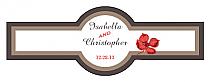 Polka Cigar Band Wedding Labels