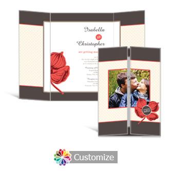 Polka 5 x 7 Gate-Fold Wedding Invitation