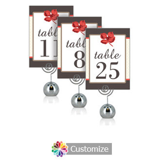 Polka 3.5 x 5 Flat Wedding Table Number for Stand