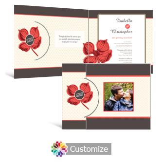 Polka 7.25 x 5.125 Folded Wedding Invitation