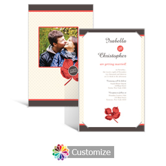 Polka 5 x 7.875 Layered Rectangle w/Vellum Wedding Invitation