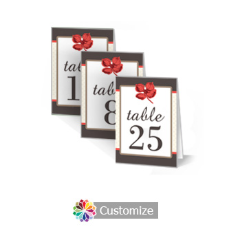 Polka 2.5 x 3.5 Folded Wedding Table Number