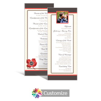 Polka 3.625 x 8.875 Tea-Length Wedding Program