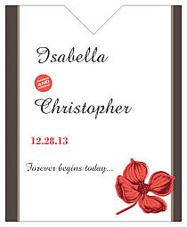 Polka Wine Wedding Label 3.25x4