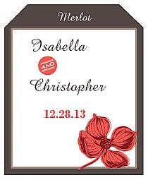 Polka Wine Wedding Label