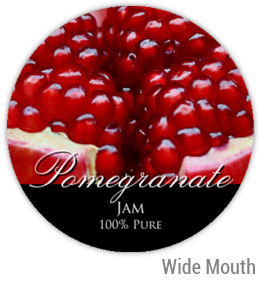 Pomegranate Wide Mouth Ball Jar Topper Insert