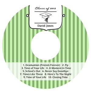 Praise CD DVD Graduation Labels