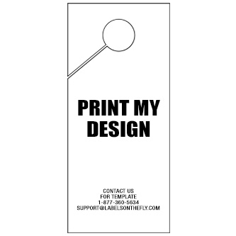 Print My Design Wedding Door Hanger 4x9