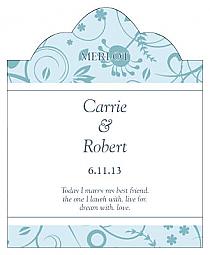 Provencale Scalloped Vertical Big Rectangle Wedding Labels