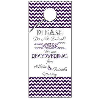 Black Chevron Wedding Door Hanger 4x9