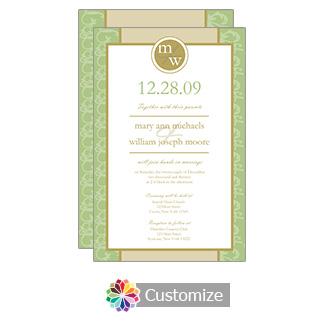 Clover Rococo 5 x 7.875 Flat Card Wedding Invitation