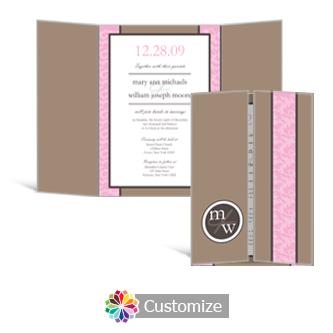 Rococo 5 x 7 Gate-Fold Wedding Invitation