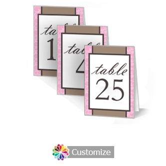 Rococo 3.5 x 5 Large Wedding Folded Table Number