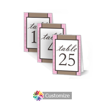 Rococo 2.5 x 3.5 Folded Wedding Table Number