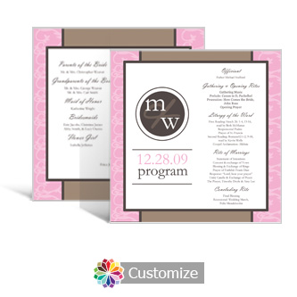 Rococo 5.875 x 5.875 Square Wedding Program