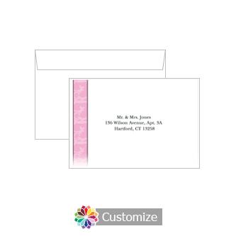 Custom Printing on Wedding Rococo Response Card Envelopes