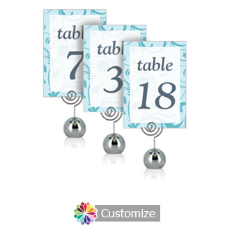 Serenity 3.5 x 5 Flat Wedding Table Number for Stand