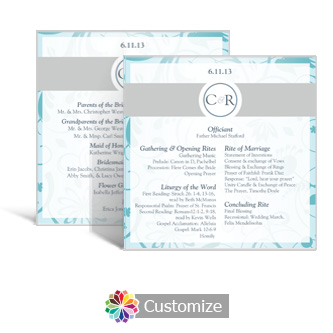 Serenity 5.875 x 5.875 Square Wedding Program