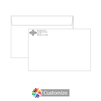 Custom Silhoutte Envelopes for Wedding Invitations