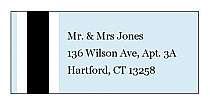 Simple Portrait Address Wedding Labels