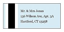 Simple Portrait Address Wedding Labels