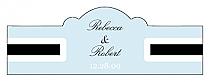 Simple Portrait Billbord Cigar Band Wedding Labels