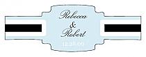Simple Portrait Buckle Cigar Band Wedding Labels
