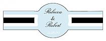 Simple Portrait Cigar Band Wedding Labels