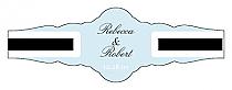 Simple Portrait Fancy Cigar Band Wedding Labels