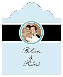 Simple Portrait Scalloped Vertical Big Rectangle Wedding Labels
