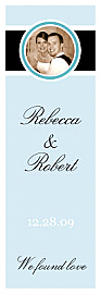Simple Portrait Vertical Tall Rectangle Wine Wedding Label