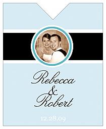 Simple Portrait Wine Wedding Label 3.25x4