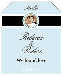 Simple Portrait Wine Wedding Label