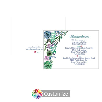 Floral Spring Meadow 5 x 3.5 Accomodations Enclosure Card