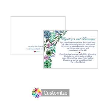 Floral Spring Meadow 5 x 3.5 Details Enclosure Card