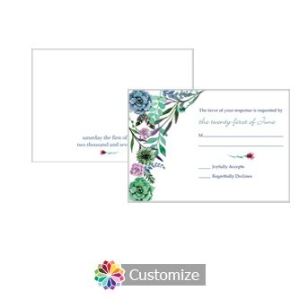Floral Spring Meadow Flowers 5 x 3.5 RSVP Enclosure Card - Reception